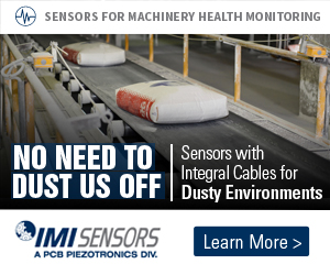 No need to dust us off - Sensors with integral cables for dusty environments - Sensors for machinery health monitoring - IMI Sensors - Learn more