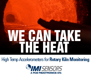 We can take the heat - High Temp Accelerometers for Rotary Kiln Monitoring - IMI Sensors
