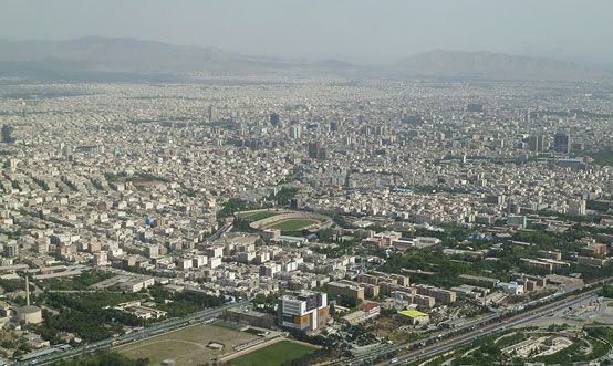 The skyline of Tehran, the Iranian capital. Iran has a unique geographical location.