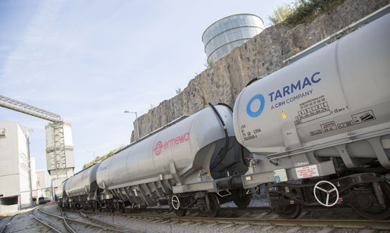 Tarmac distributes 9Mt/yr of cement and aggregate in the UK.