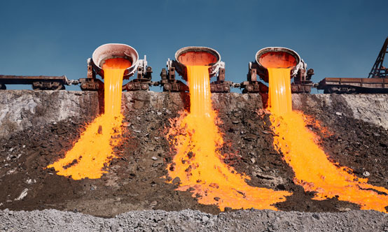 Air-cooled slag is a lower value product than granulated blast-furnace slag.