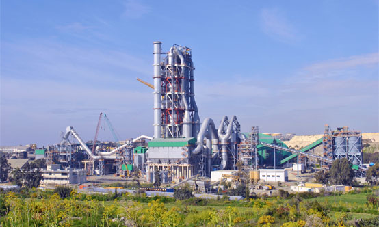Cement plant build by Tianjin Cement Industry Design and Research Institute, part of CNBM & Sinoma.