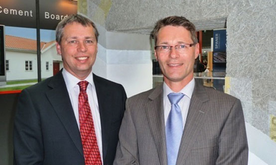 Bert van Elten (left) has been Managing Director of Eltomation since 1992