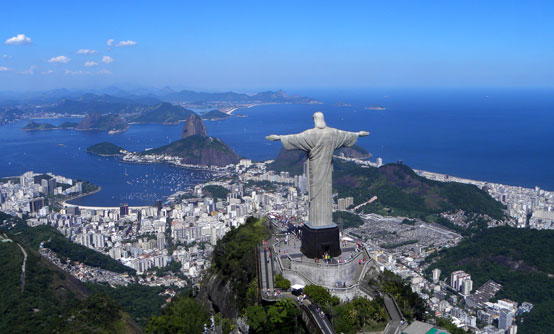 The statue of Christ the Redeemer in Rio de Janeiro