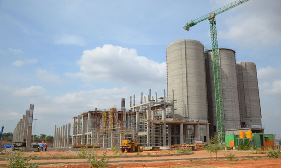 Works continued on Holcim's cement plant in Tuban, East Java, Indonesia in 2014