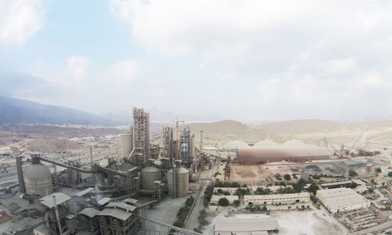 The Oman Cement Company factory near Muscat, has three kiln lines and a cement production capacity of 2.7Mt/yr