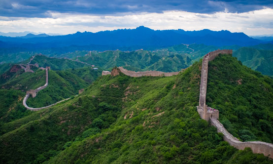 Figure 1: The Great Wall of China at Jinshanling is a series of fortifications made of stone, brick, tamped earth, wood and other materials. It is built along an east-to-west line across the historical northern borders  of China.