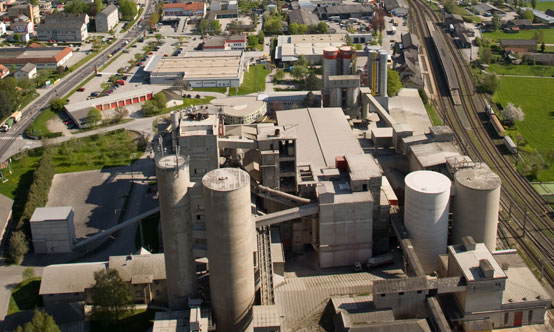 The beautiful surroundings of the Kirchdorfer Zement plant in Upper Austria.
