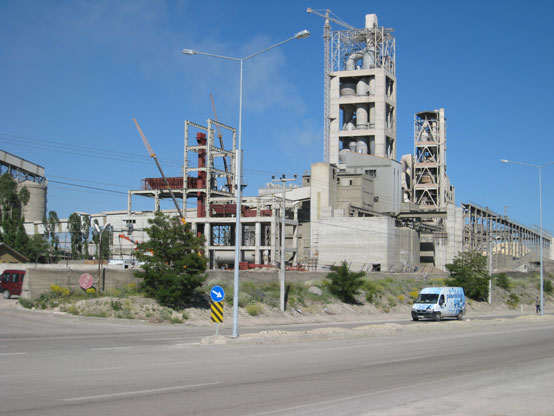 The Aşkale Cement plant at Erzurum, Turkey