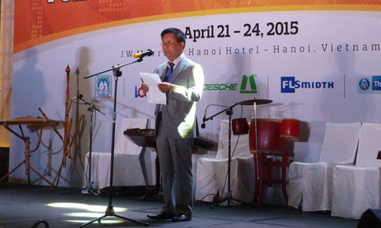 AFCM president Nguyen Quang Cung welcomed the delegates to the 24th AFCM Technical Symposium on 21 April 2015