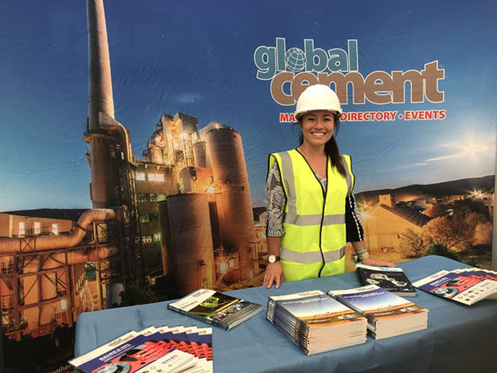 Global Cement Magazine exhibition stand at Hillhead 2018
