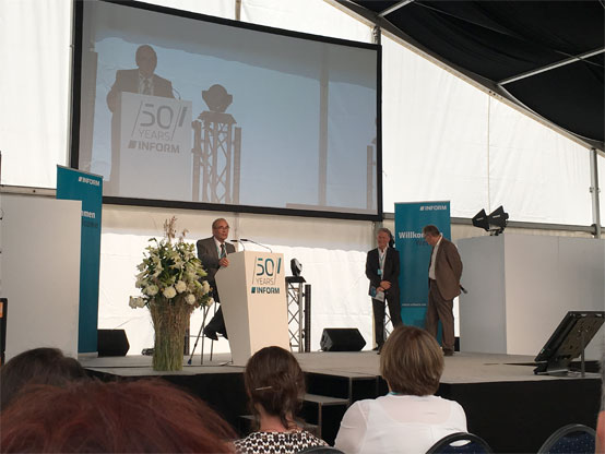 INFORM celebrates 50th anniversary - Professor Hans-Jürgen Zimmermann and chief executive officer Adrian Weiler
